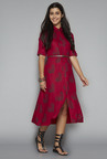 Bombay Paisley by Westside Maroon Shirt Dress