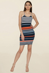Globus Multicolor Striped Above Knee Dress
