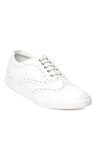 Bruno Manetti White Brogue Shoes