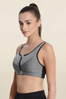 Da Intimo Grey Non Wired Padded Sports Bra