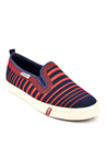 Lee Cooper Navy & Red Plimsolls