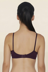Libertina Wine Non Wired Non Padded T Shirt Bra