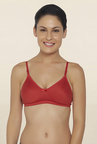 Libertina Red Non Wired Non Padded T Shirt Bra
