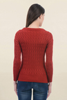 Pepe Jeans Red Crochet Sweater