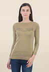 Pepe Jeans Brown Lace Sweater