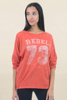 Pepe Jeans Orange Full Sleeves Sweatshirt