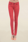 Pepe Jeans Red Slim Fit Low Rise Jeans
