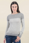 Pepe Jeans Grey Striped Sweater