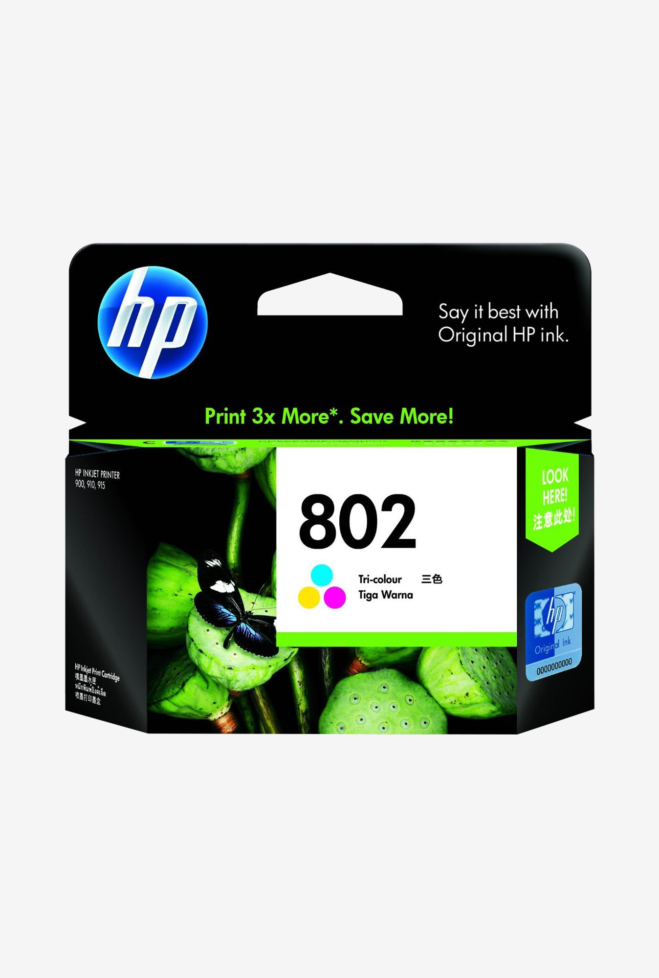 HP 802 CH564ZZ Ink Cartridge Tri-color