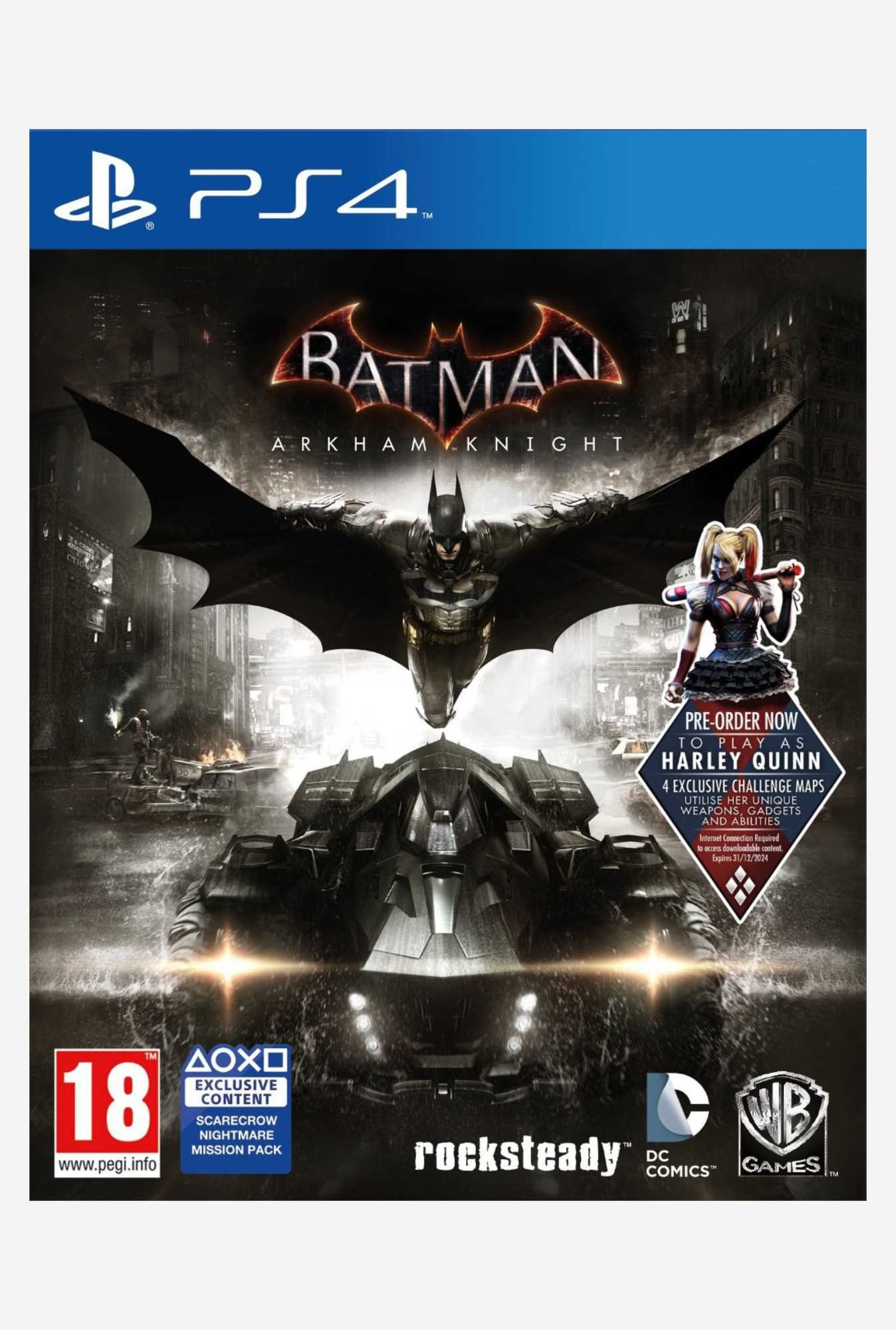 Warner Brothers Batman: Arkham Knight (PS4)