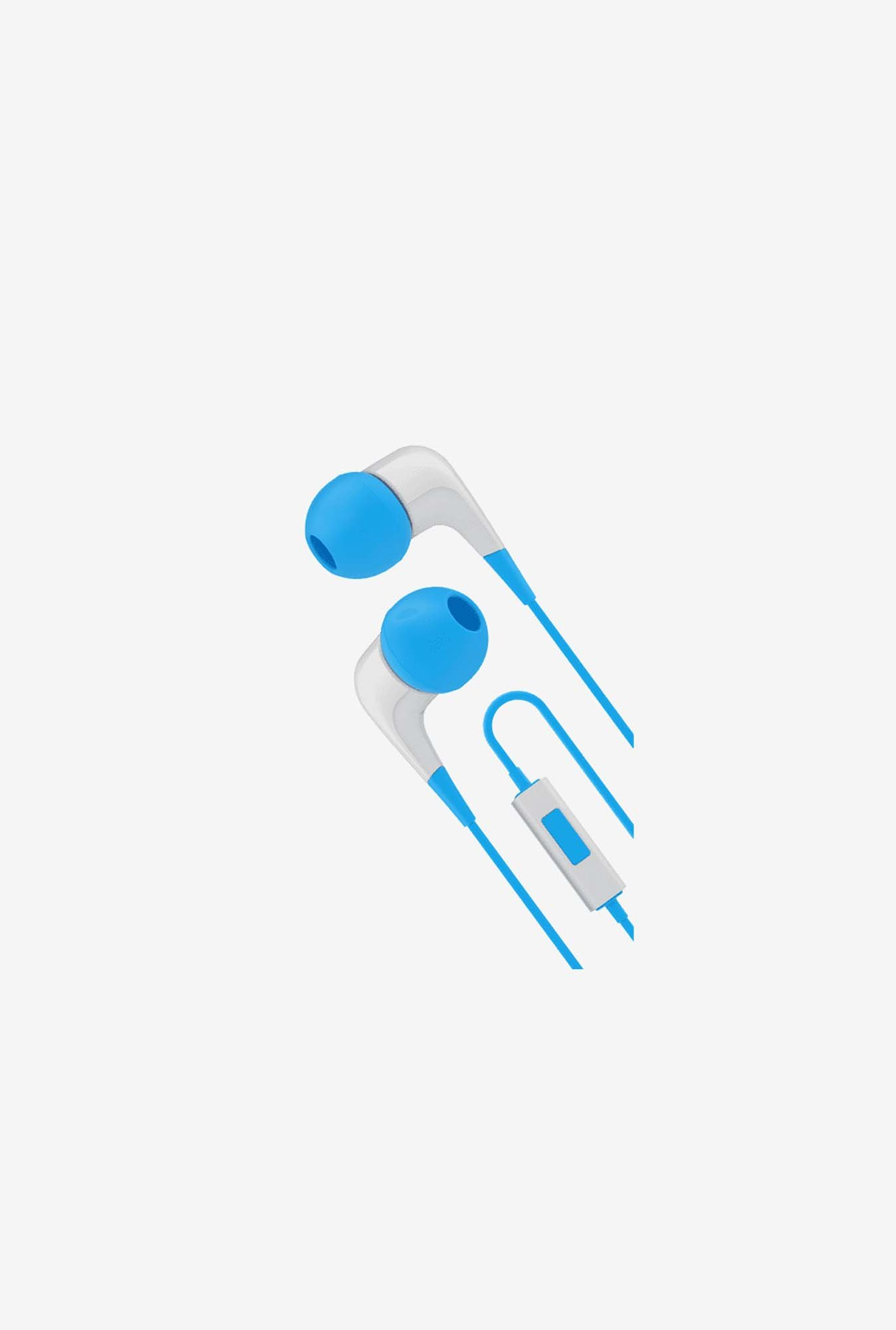 Cygnett CY1720HEWIR In the Ear Headphone White and Blue