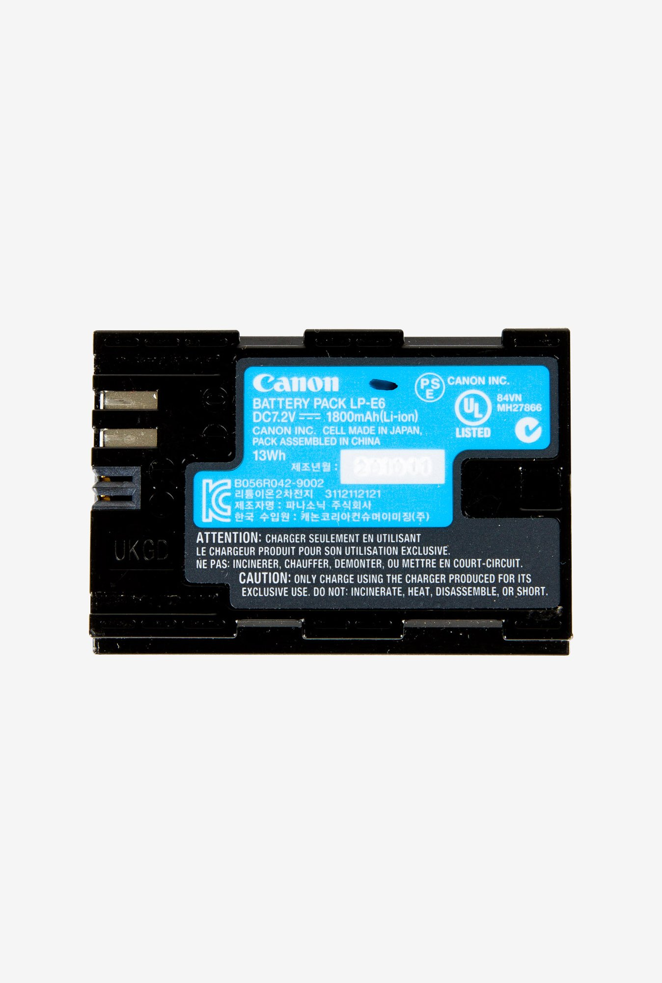 Digitek Canon LP E6 New Rechargeable Battery Black