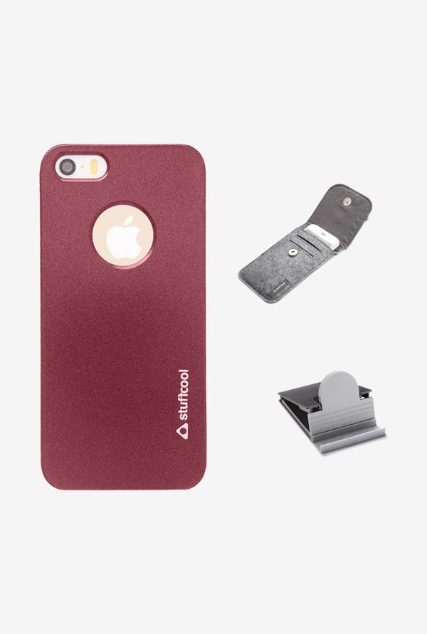 Stuffcool EMIP5S Back Case for Apple iPhone 5/5s Red
