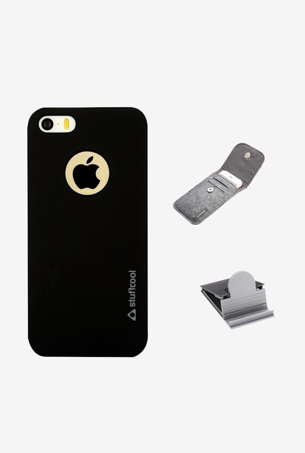 Stuffcool FLIP5S Back Case for Apple iPhone 5s Black