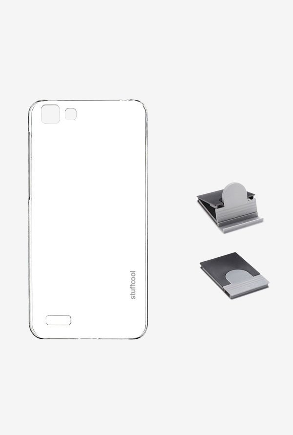 Stuffcool CLVV1 Back Case for Vivo V1 Clear
