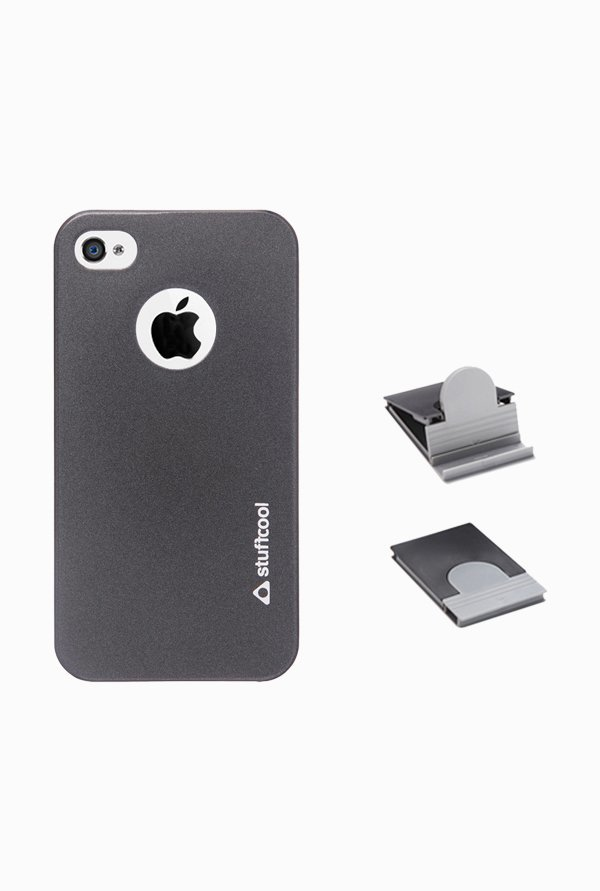 Stuffcool EMIP4S Back Case for Apple iPhone 4/4s Black