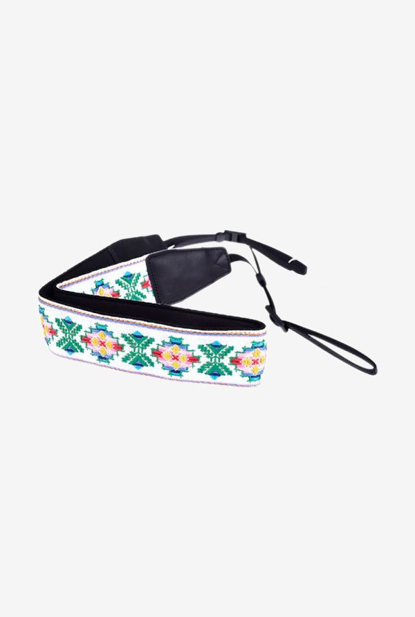 Cowboy Studio CAM7409 Shoulder Neck Strap White and Green