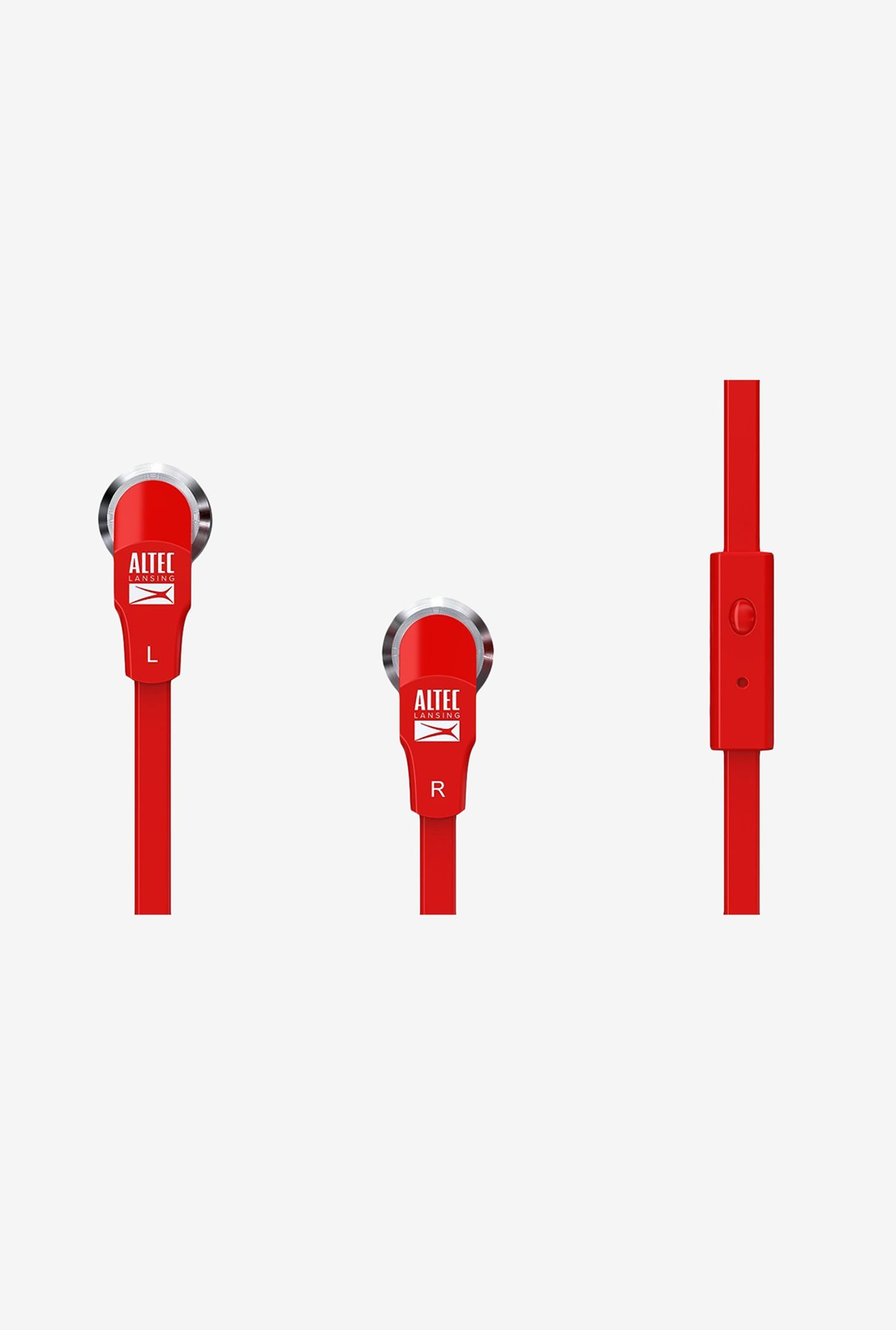 Altec Lansing MZX145-RED In-Ear Earphone Red