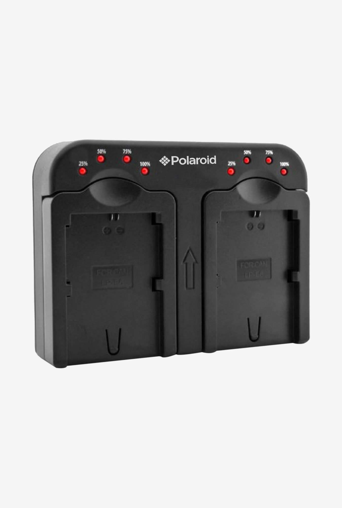 Polaroid Double Battery Charger Charge 2 Batteries At The Same Time