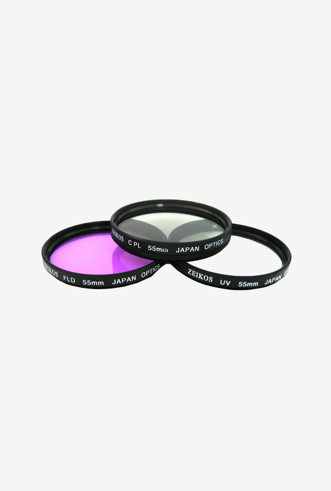 Zeikos 55mm Multi-Coated ZE-FLK55 Filter Kit (3 Piece)