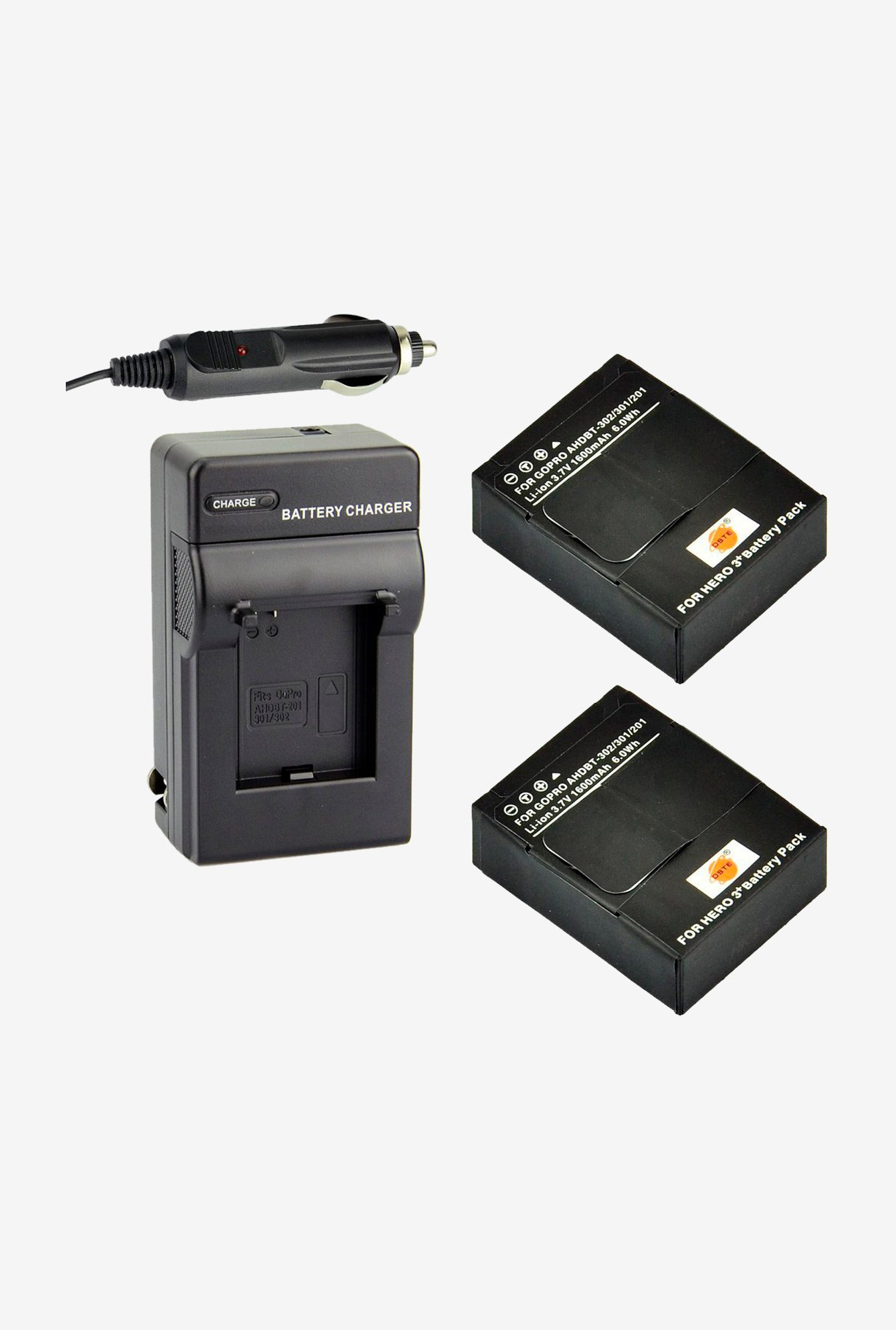Dste 2Pcs Ahdbt -302 Replacement Li -Ion Battery + Charger Dc137 For Gopro