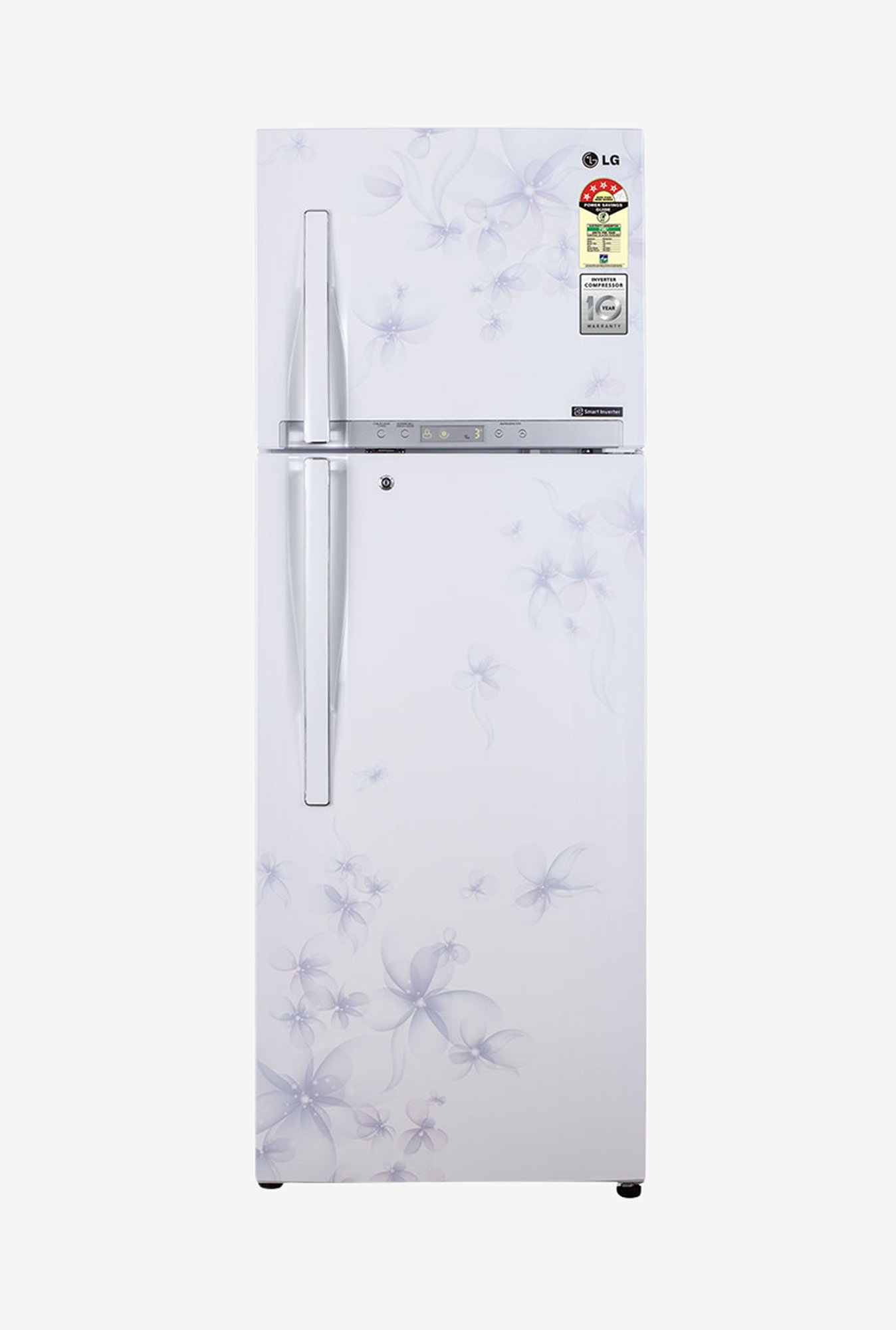 LG 360 L Double Door GL-D402HDW Refrigerator Daffodil White