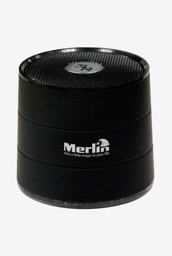 Merlin Bluetooth Speaker with Built-in MP3 Player Black