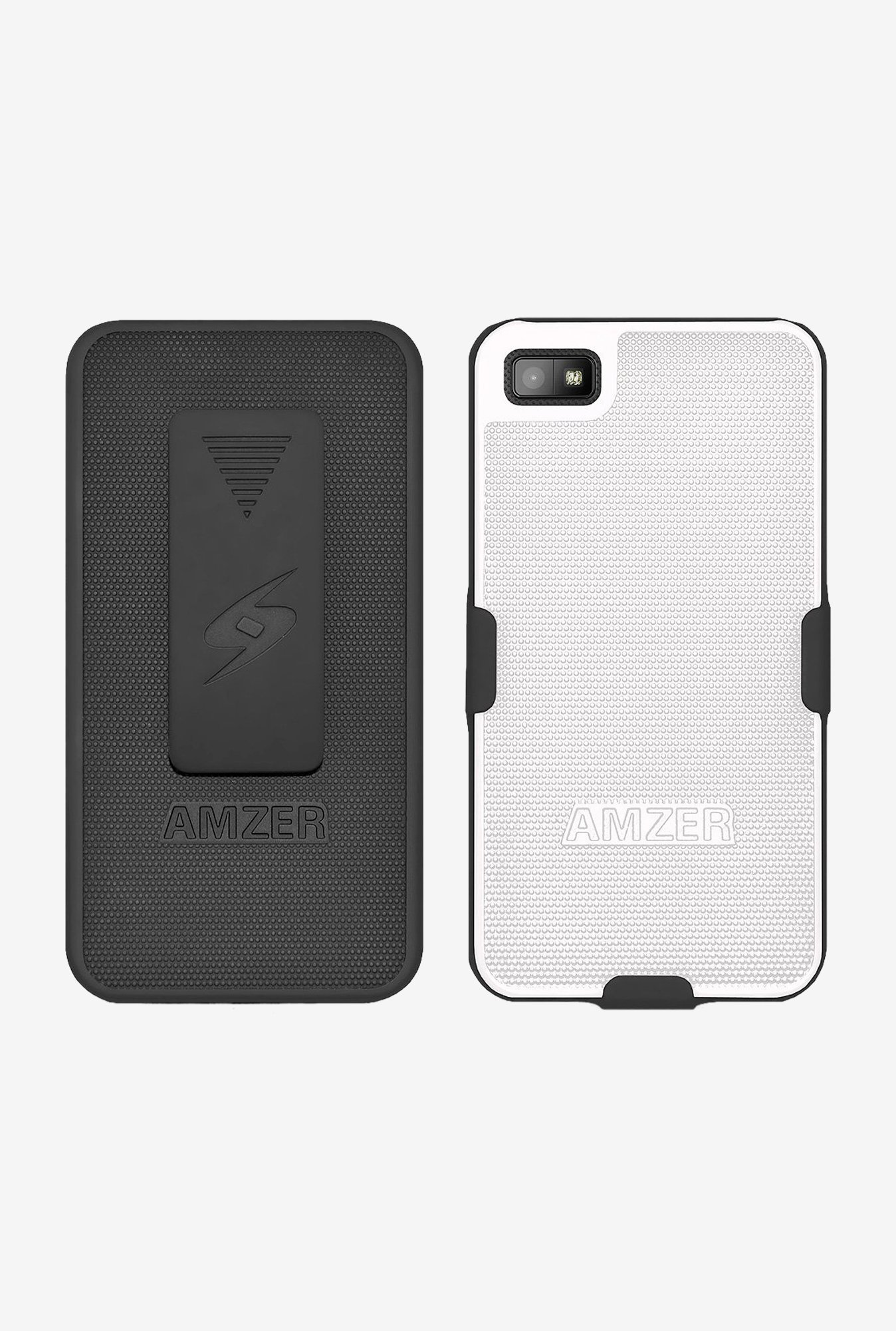 Amzer Shellster Shell Case Black & White for BlackBerry Z10