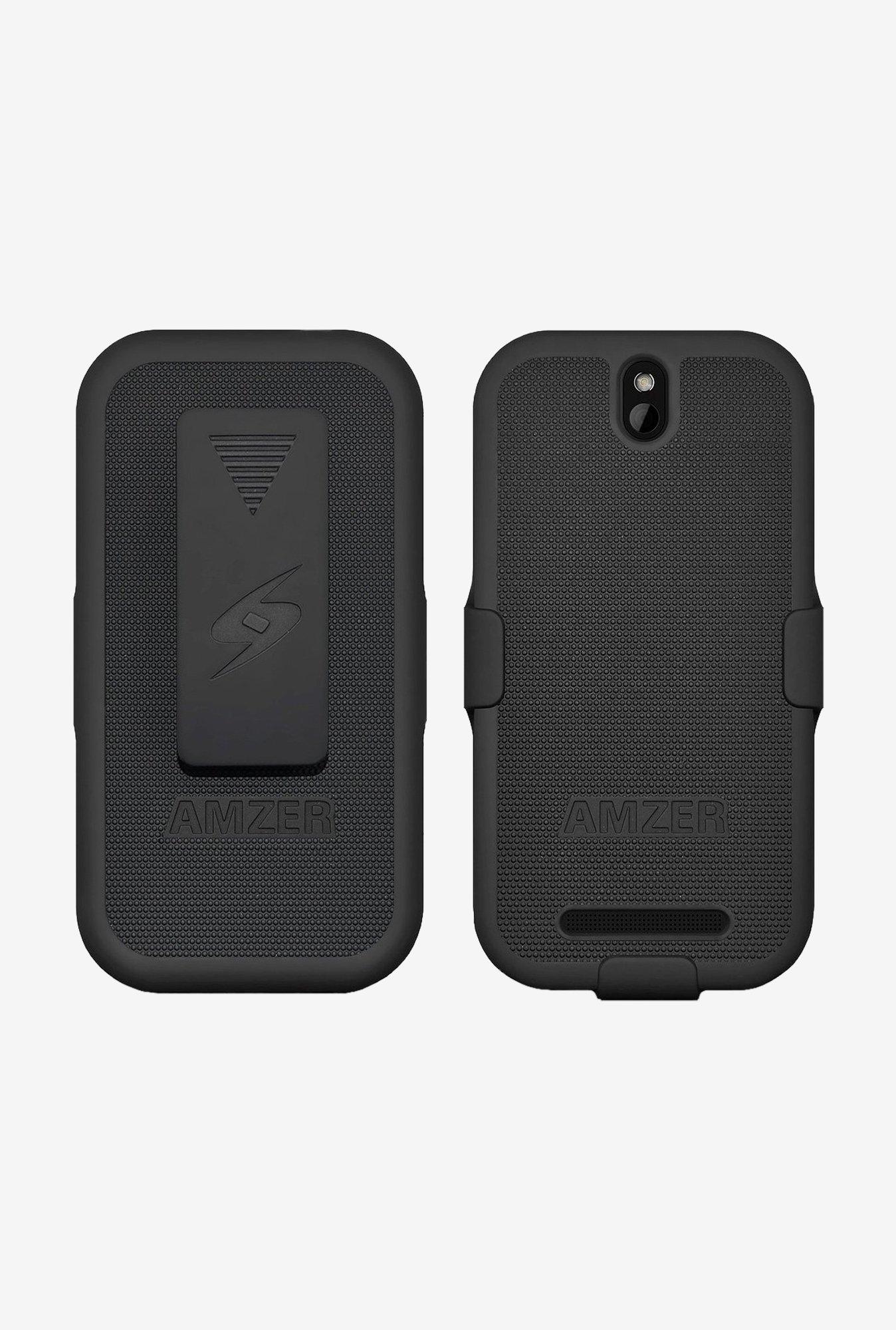 Amzer Shellster Shell Case Black for HTC One SV