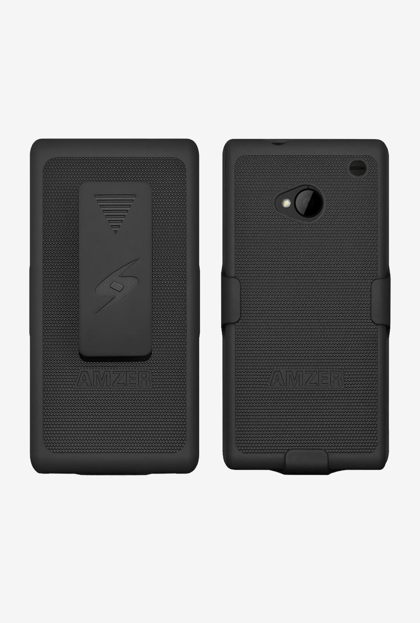 Amzer Shellster Shell Case Black for HTC One M7