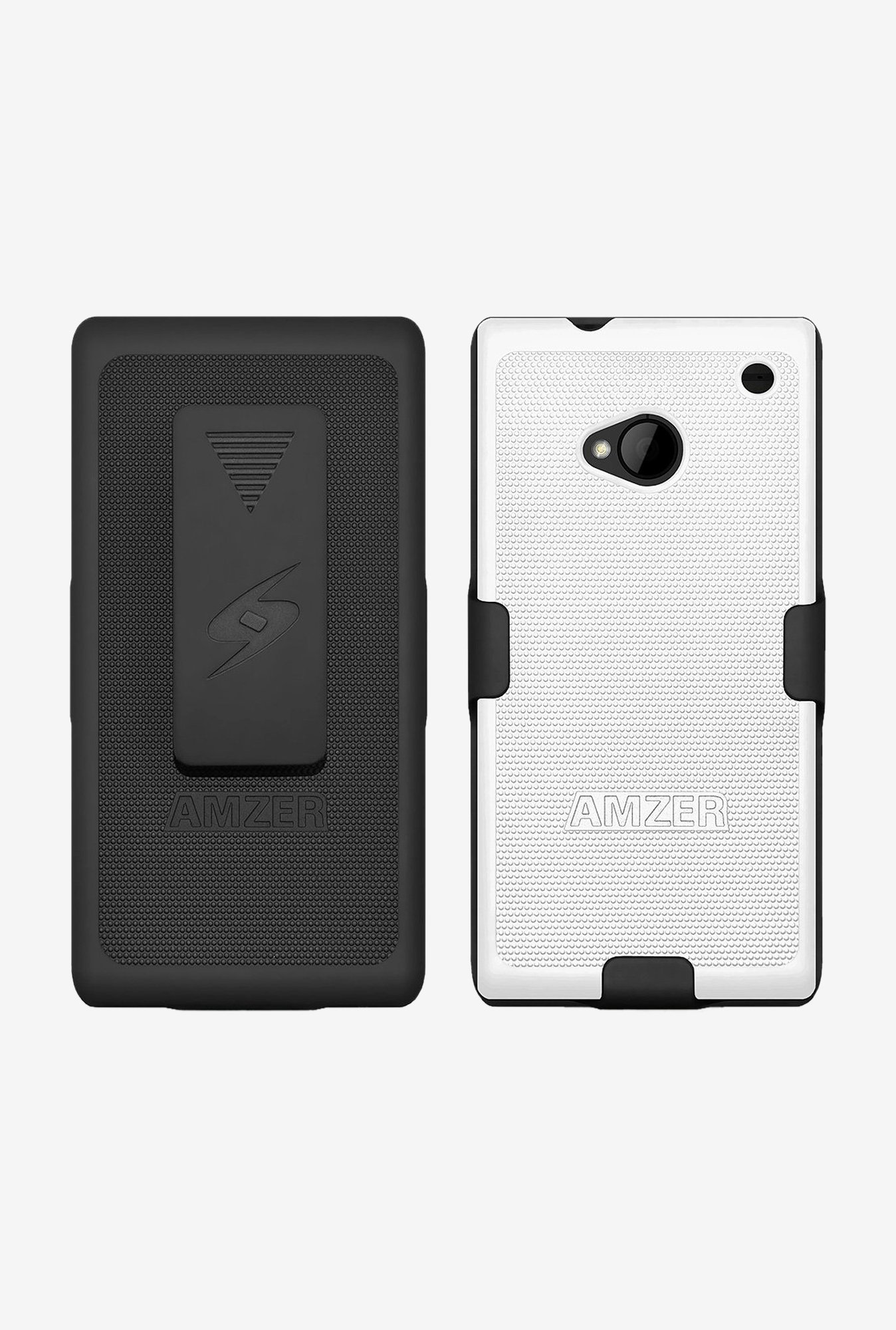 Amzer Shellster Shell Case Black & White for HTC One M7