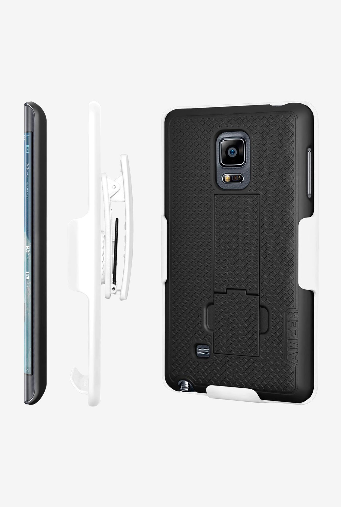 Amzer Shellster Case with Kickstand White/Black for NoteEdge