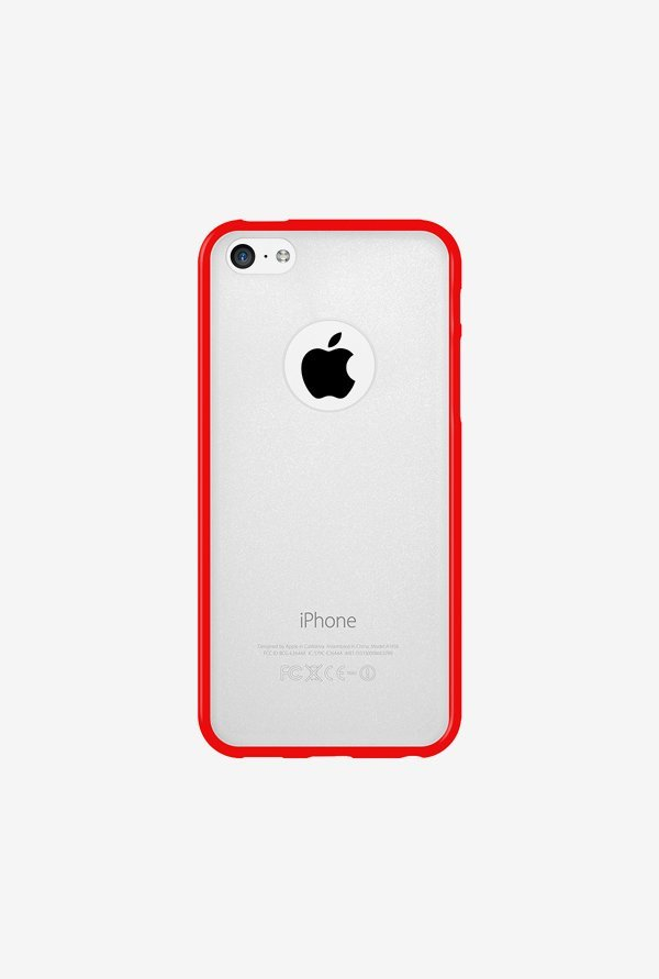 Amzer SlimGrip Hybrid Case Cloudy & Red for iPhone 5C