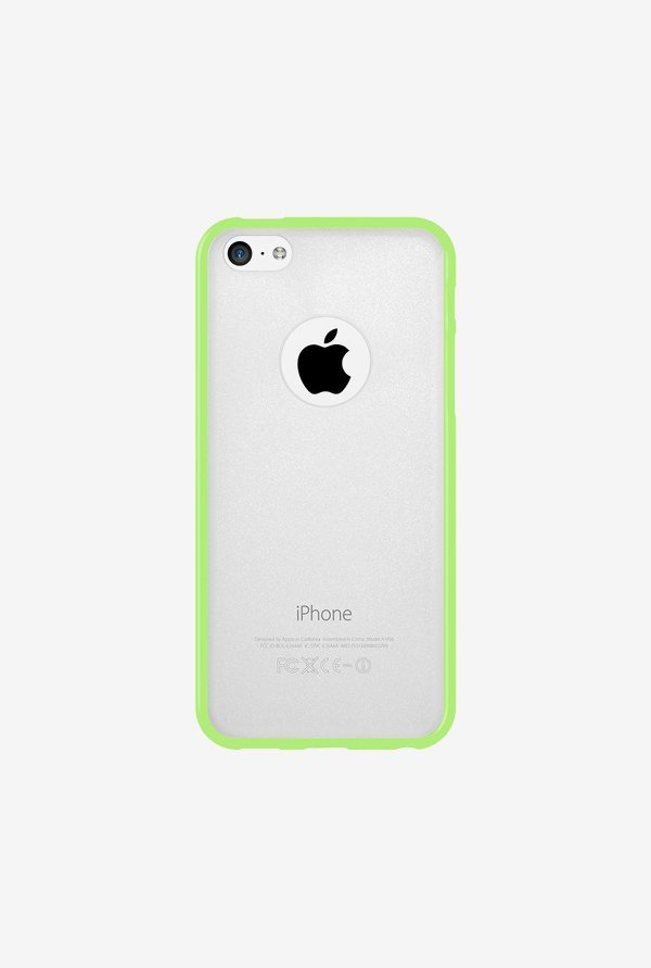 Amzer SlimGrip Hybrid Case Cloudy & Green for iPhone 5C