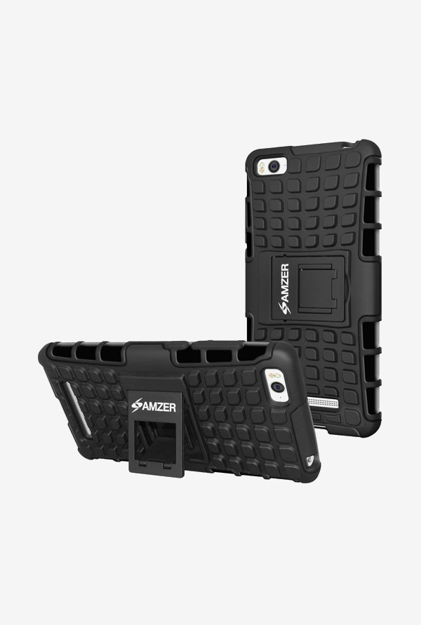 Amzer Hybrid Warrior Case Black for Mi 4i