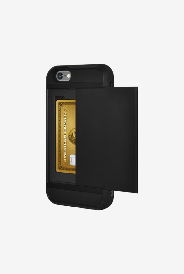 Amzer Full Body Hybrid Credit Card Case Black for iPhone 6+