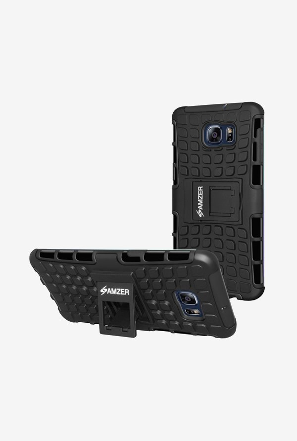 Amzer Hybrid Warrior Case Black for Samsung S6 edge+