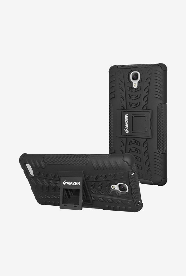Amzer Hybrid Warrior Case Black for Redmi Note