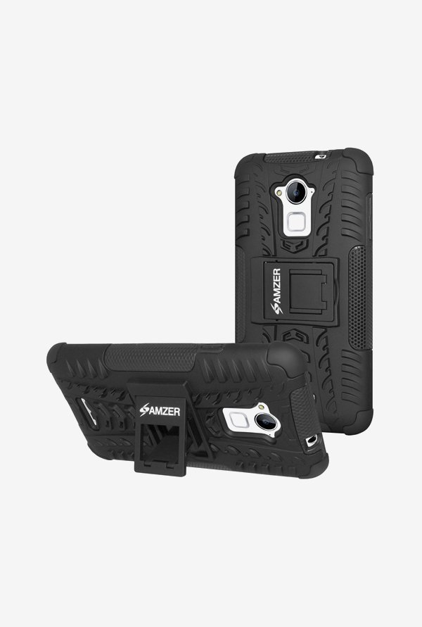 Amzer Hybrid Warrior Case Black for Coolpad Dazen Note 3