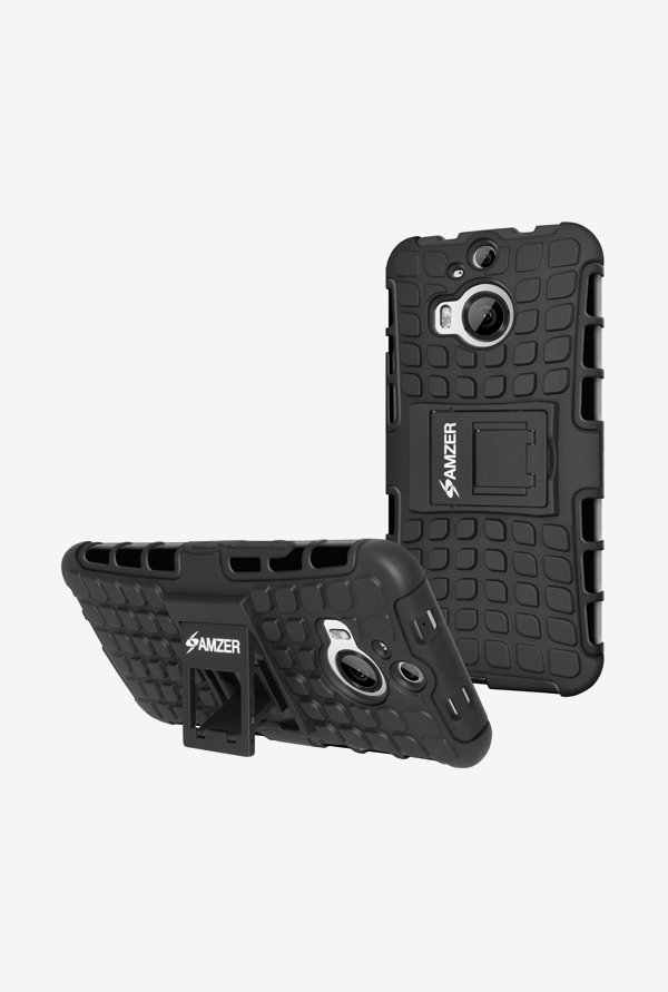Amzer Hybrid Warrior Case Black for HTC One M9+