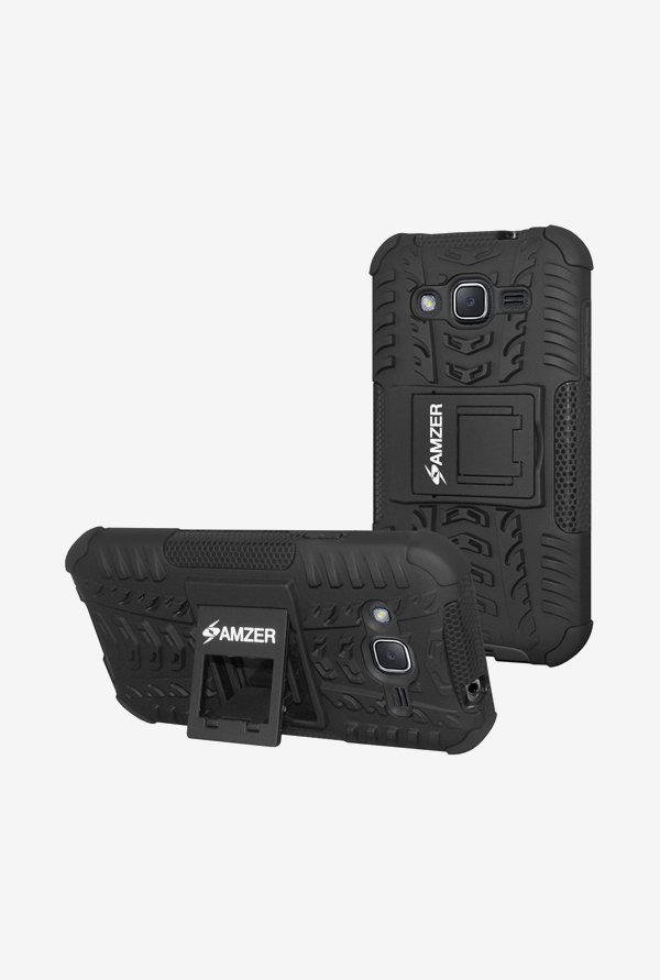 Amzer Hybrid Warrior Case Black for Samsung J2