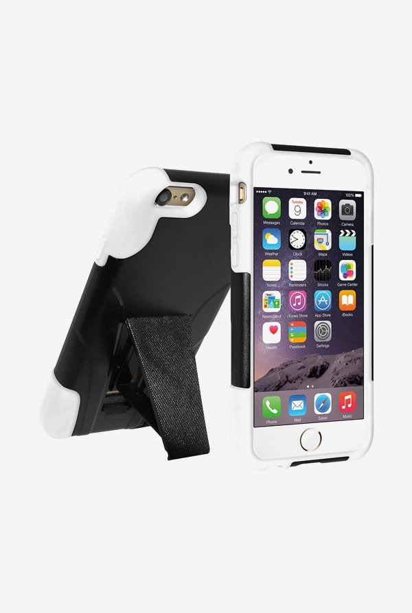 Amzer Dual Layer Hybrid Case Black & White for iPhone 6