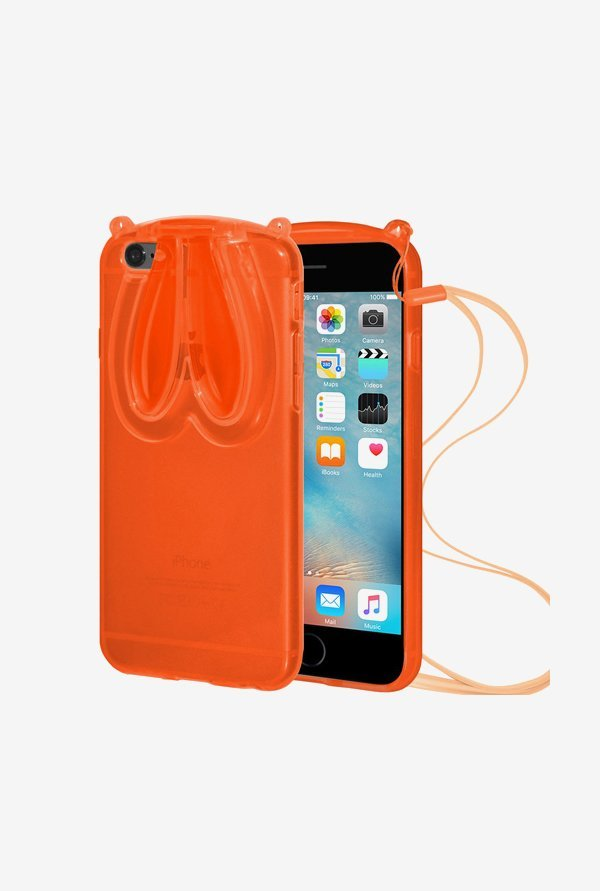 Amzer TPU Case With Rabbit Ears Orange for iPhone 6