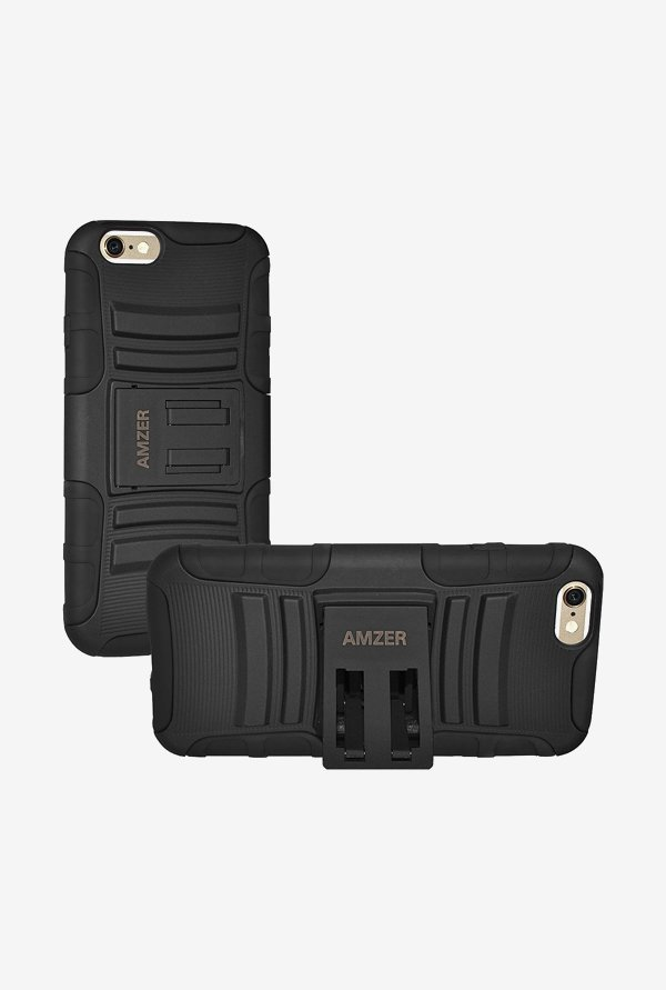 Amzer Hybrid Kickstand Case Black for iPhone 6+