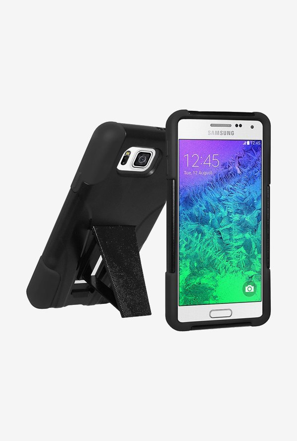 Amzer Dual Layer Hybrid Case Black for Samsung Alpha