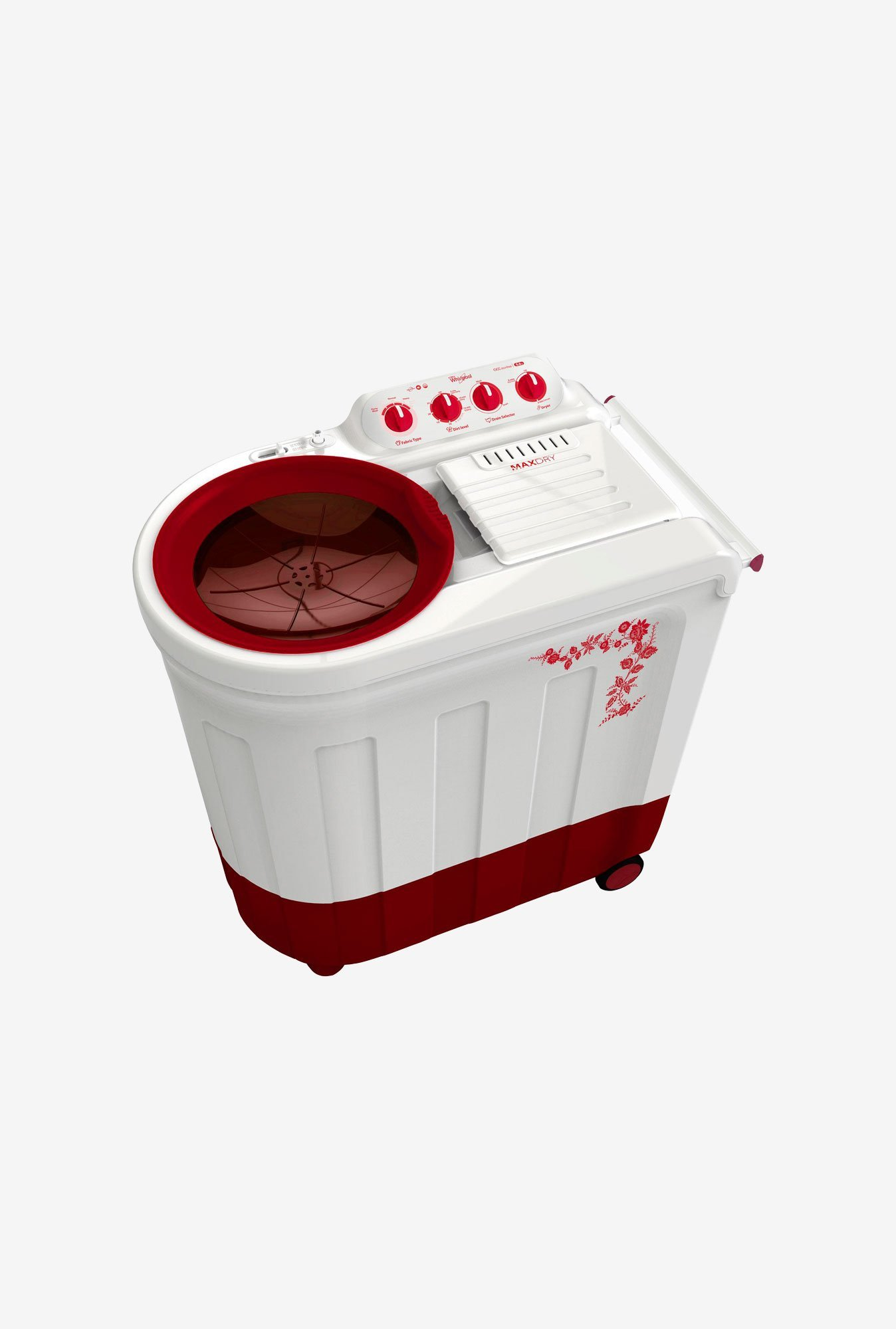 Whirlpool Ace 7.0 Stainfree Washing Machine Flora Red