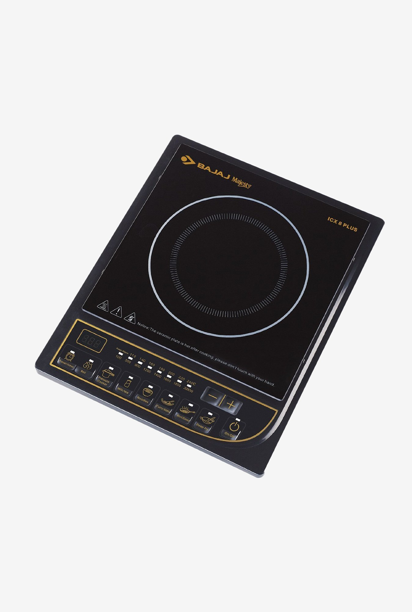 Bajaj Majesty 2000W ICX 8 Plus Induction Cooktop Black