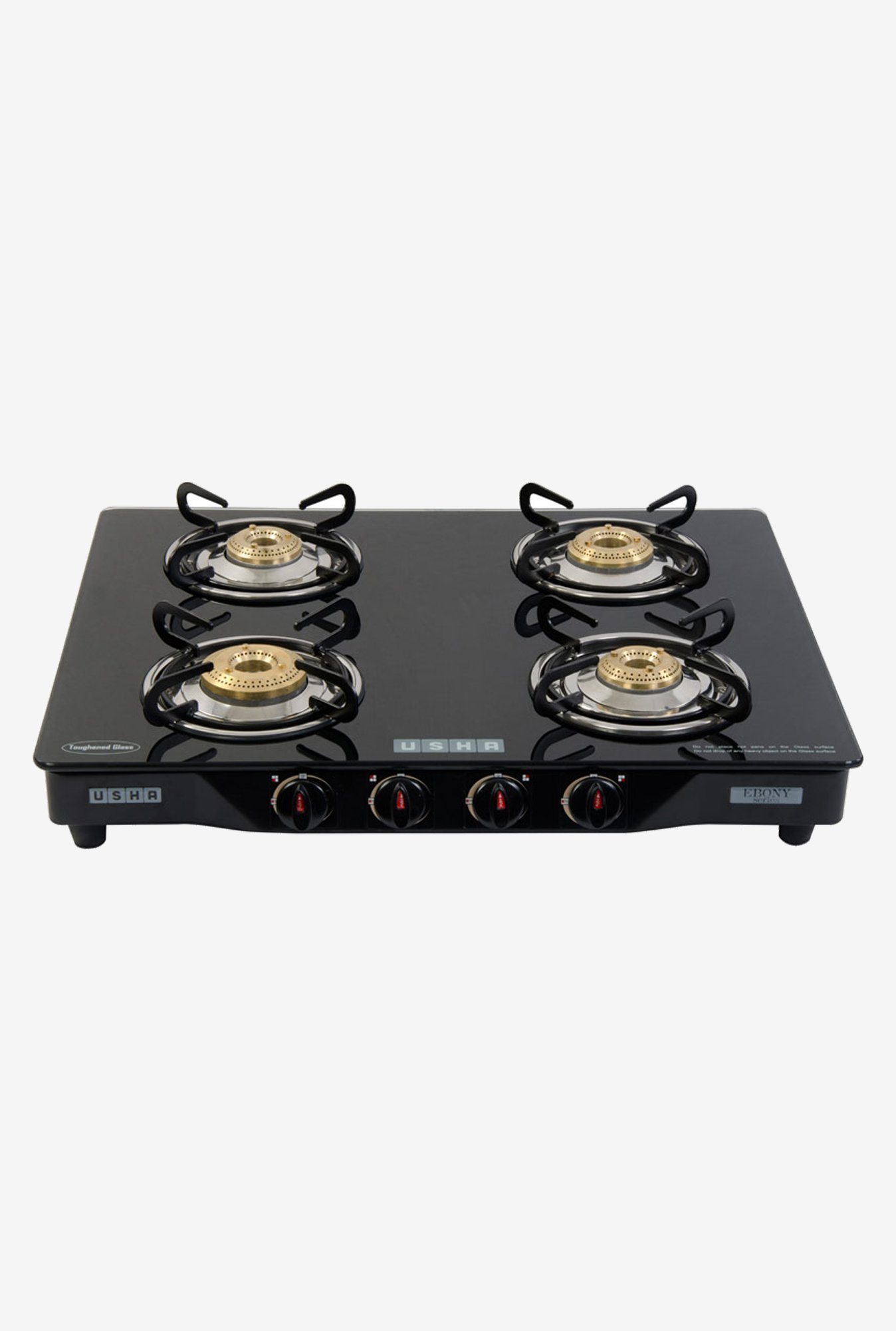 Usha Ebony GS4001 4 Burners Gas Cooktop Black