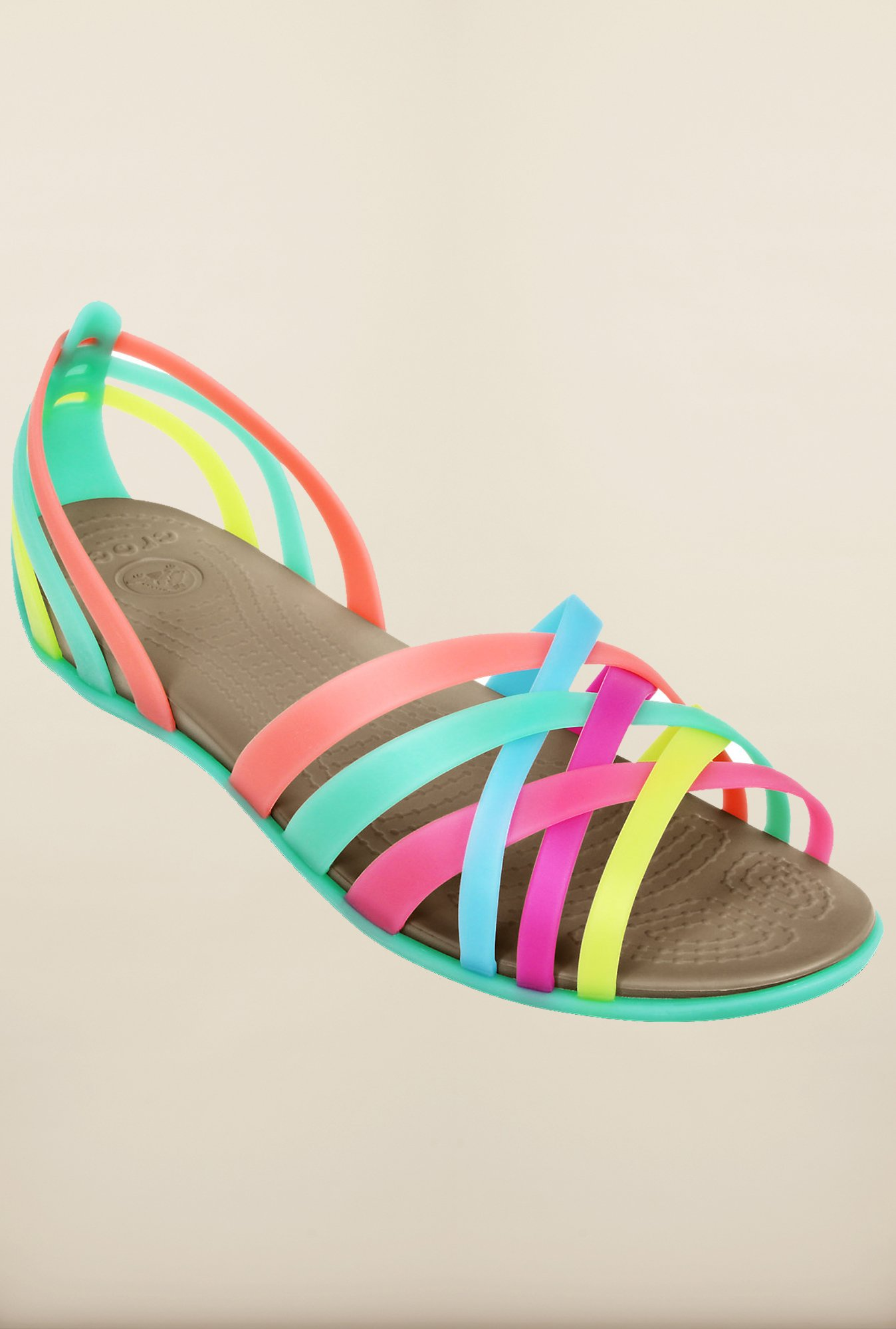 Crocs Huarache Multicolor Cross Strap Sandals