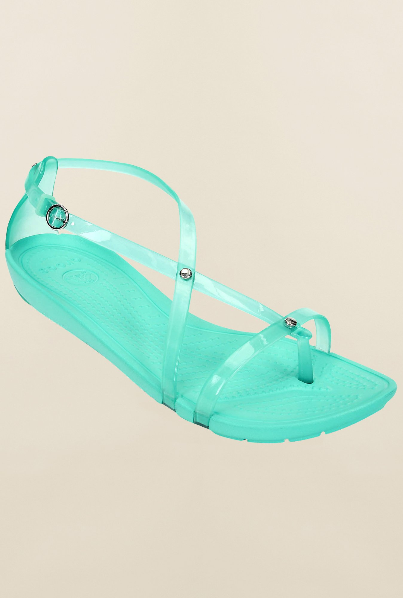 Crocs Really Sexi Island Green Cross Strap Sandals